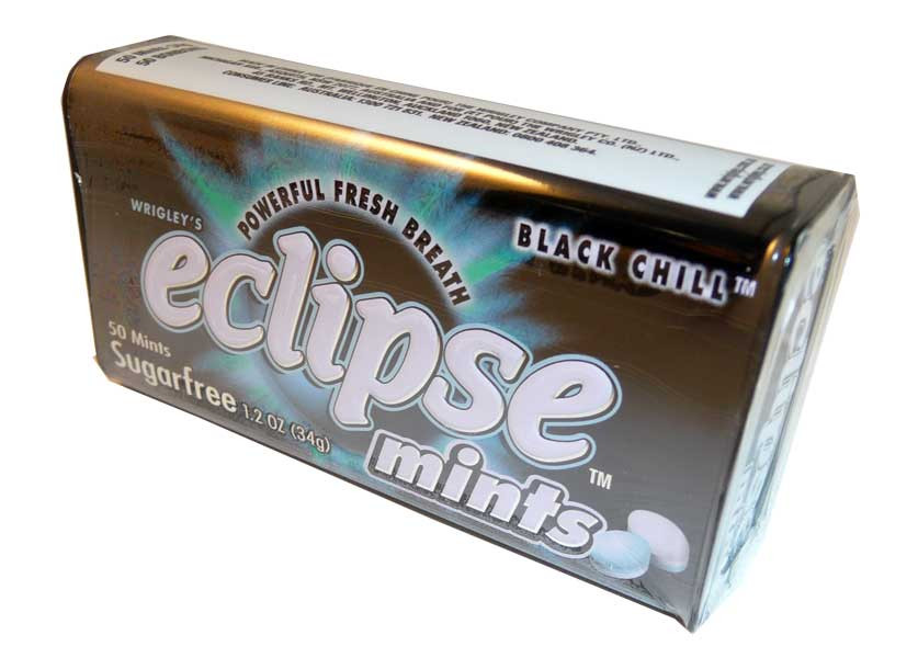 Eclipse Black Chill Mints, by Wrigley,  and more Confectionery at The Professors Online Lolly Shop. (Image Number :2629)