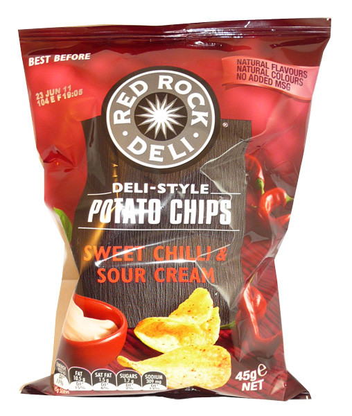 Red Rock Deli Sweet Chilli and Sour Cream Chips, by Red Rock Deli,  and more Snack Foods at The Professors Online Lolly Shop. (Image Number :3722)