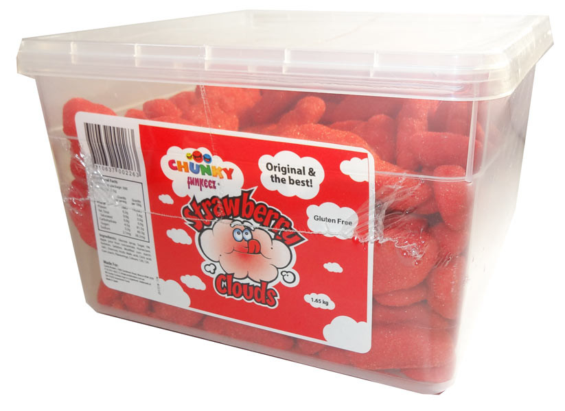 Chunky Funkeez Strawberry Clouds, by Candy Brokers,  and more Confectionery at The Professors Online Lolly Shop. (Image Number :6674)