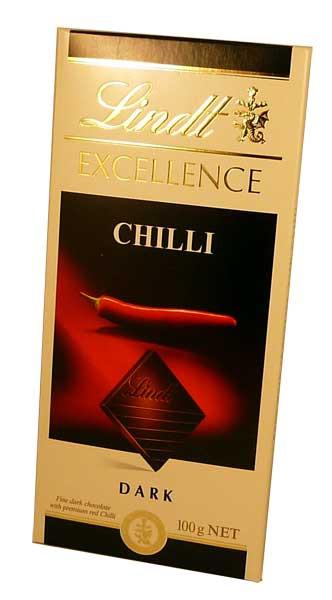 Lindt Excellence - Chilli Dark Chocolate, by Lindt,  and more Confectionery at The Professors Online Lolly Shop. (Image Number :2777)