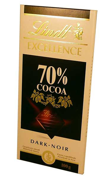 Lindt Excellence - Dark Noir Chocolate - 70% Cocoa, by Lindt,  and more Confectionery at The Professors Online Lolly Shop. (Image Number :2779)