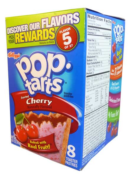 Kelloggs Pop Tarts - Frosted Cherry, by Kelloggs Pop Tarts,  and more Snack Foods at The Professors Online Lolly Shop. (Image Number :2841)