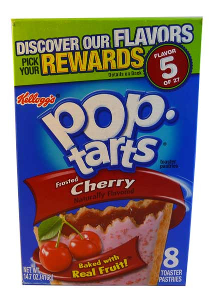 Kelloggs Pop Tarts - Frosted Cherry, by Kelloggs Pop Tarts,  and more Snack Foods at The Professors Online Lolly Shop. (Image Number :2842)