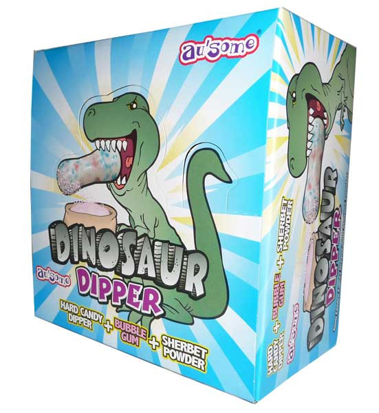 Dinosaur Dipper, by Candy Brokers,  and more Confectionery at The Professors Online Lolly Shop. (Image Number :2861)