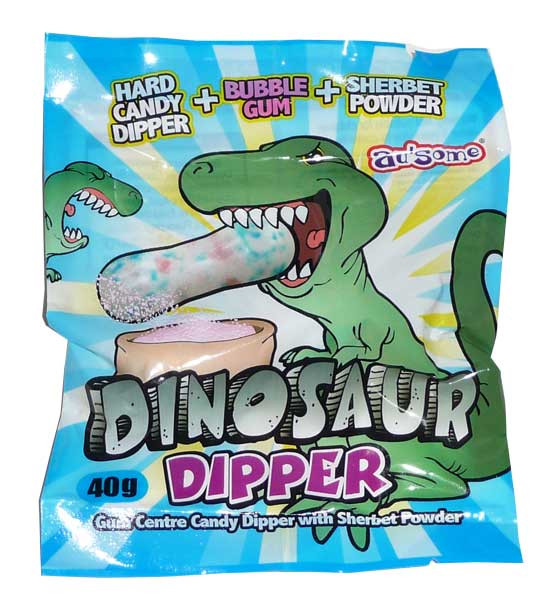 Dinosaur Dipper, by Candy Brokers,  and more Confectionery at The Professors Online Lolly Shop. (Image Number :2863)