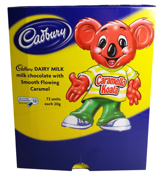 Cadbury Caramello Koala, by Cadbury,  and more Confectionery at The Professors Online Lolly Shop. (Image Number :7364)