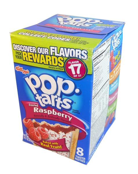 Kelloggs Pop Tarts - Frosted Raspberry, by Kelloggs Pop Tarts,  and more Snack Foods at The Professors Online Lolly Shop. (Image Number :2916)
