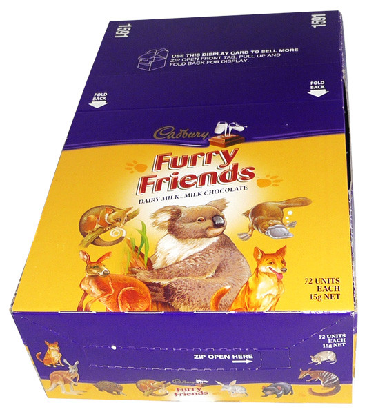 Cadbury Furry Friends, by Cadbury,  and more Confectionery at The Professors Online Lolly Shop. (Image Number :4221)