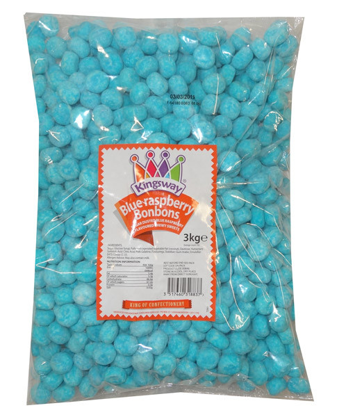 Bon Bons - Blue Raspberry, by Kingsway,  and more Confectionery at The Professors Online Lolly Shop. (Image Number :9125)