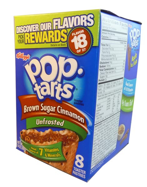 Kelloggs Pop Tarts - Unfrosted Brown Sugar Cinnamon, by Kelloggs Pop Tarts,  and more Snack Foods at The Professors Online Lolly Shop. (Image Number :3008)