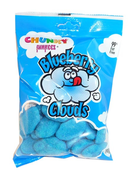 Chunky Funkeez Blueberry Clouds, by Candy Brokers,  and more Confectionery at The Professors Online Lolly Shop. (Image Number :2981)