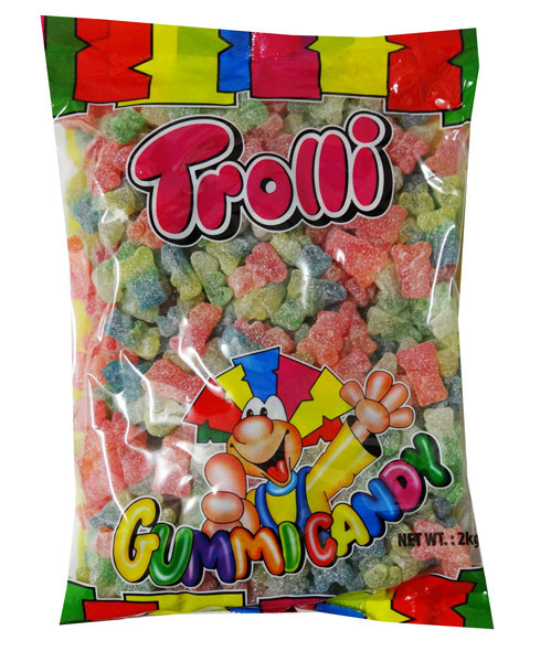 Trolli Super Sour Bears 2kg Bulk Bag, by Trolli,  and more Confectionery at The Professors Online Lolly Shop. (Image Number :7865)