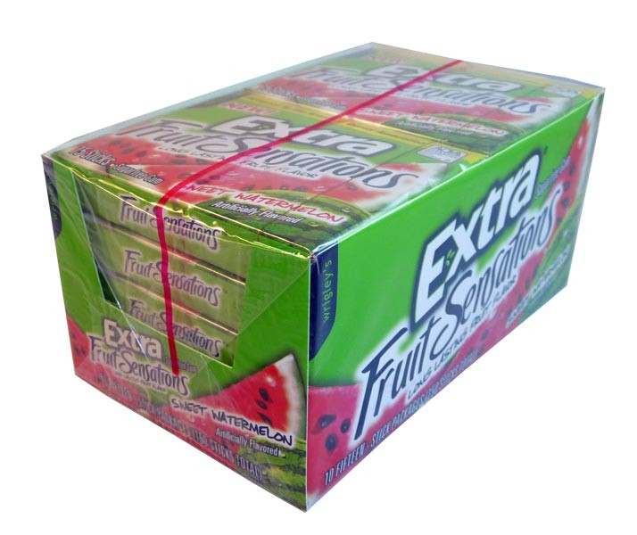 Wrigleys Extra - Fruit Sensations - Sweet Watermelon, by Wrigley,  and more Confectionery at The Professors Online Lolly Shop. (Image Number :3074)