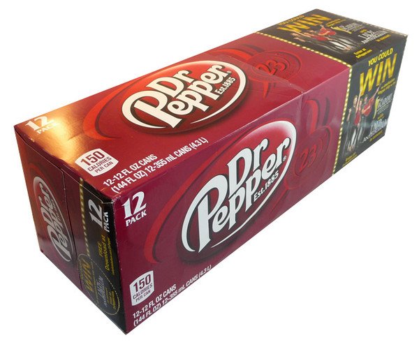 Dr. Pepper, by Dr Pepper,  and more Beverages at The Professors Online Lolly Shop. (Image Number :3663)