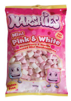 Marshies Pink and White Mini Marshmallows, by Marshies,  and more Confectionery at The Professors Online Lolly Shop. (Image Number :3111)