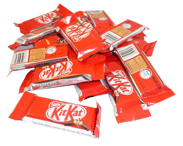 Kit Kat 2 finger bars, by Nestle,  and more Confectionery at The Professors Online Lolly Shop. (Image Number :3703)