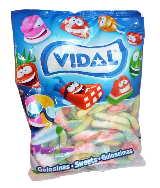 Vidal Sour Caterpillars, by vidal,  and more Confectionery at The Professors Online Lolly Shop. (Image Number :3136)