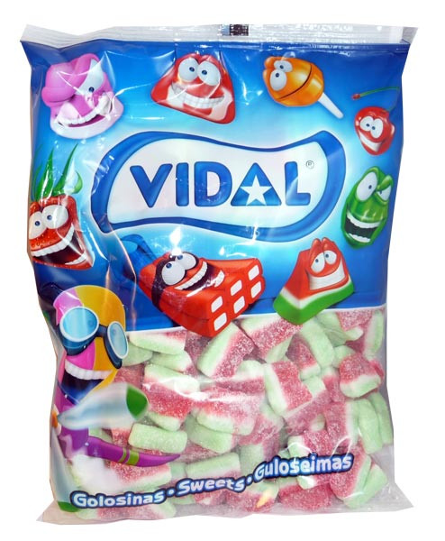 Vidal Watermelon Slices, by Candy Brokers/vidal,  and more Confectionery at The Professors Online Lolly Shop. (Image Number :3140)
