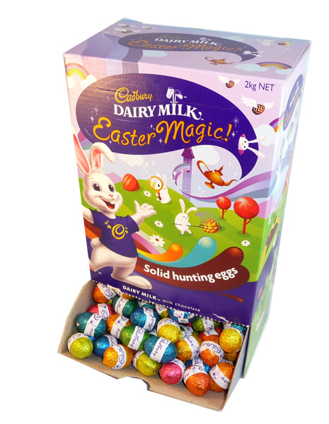 Cadbury Dairy Milk Easter Magic Solid Hunting Eggs, by Cadbury,  and more Confectionery at The Professors Online Lolly Shop. (Image Number :3148)