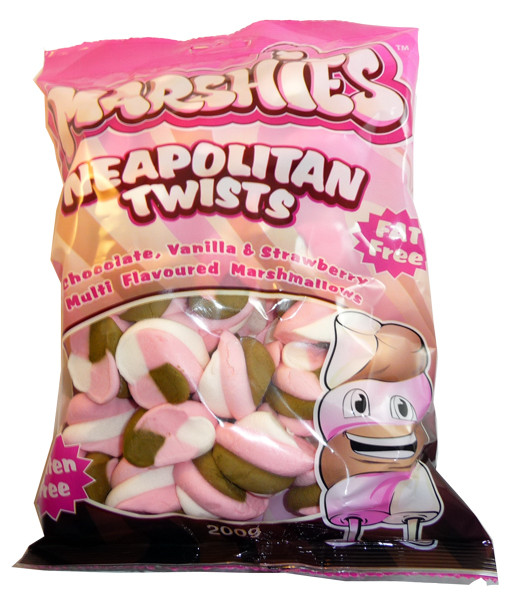 Marshies Neapolitan Twists, by Marshies,  and more Confectionery at The Professors Online Lolly Shop. (Image Number :3160)