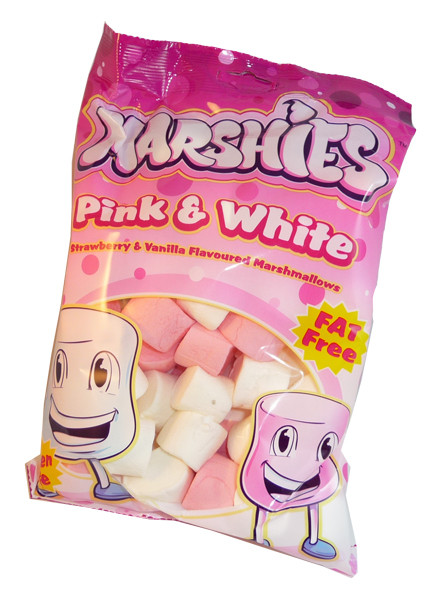 Marshies Pink and White Marshmallows, by Marshies,  and more Confectionery at The Professors Online Lolly Shop. (Image Number :3177)