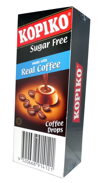 Kopiko Sugar Free Coffee Drops, by Ferndale Confectionery/Kopiko,  and more Confectionery at The Professors Online Lolly Shop. (Image Number :3513)