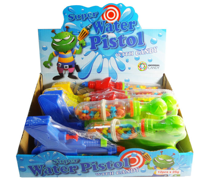 Super Water Pistol with Candy, by Universal Candy,  and more Confectionery at The Professors Online Lolly Shop. (Image Number :7639)