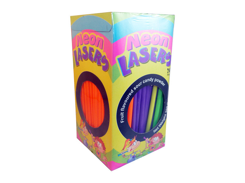 Neon Lasers, by Universal Candy,  and more Confectionery at The Professors Online Lolly Shop. (Image Number :3211)