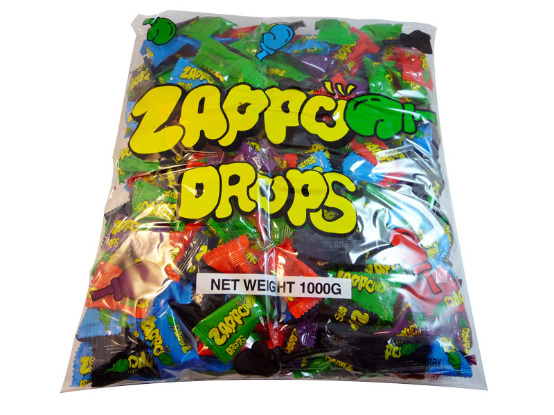 Zappo Drops, by Universal Candy/Zappo,  and more Confectionery at The Professors Online Lolly Shop. (Image Number :3249)