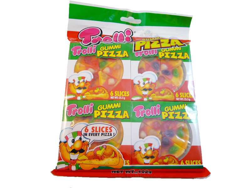 Trolli Mini Gummy Pizza, by Trolli,  and more Confectionery at The Professors Online Lolly Shop. (Image Number :3290)