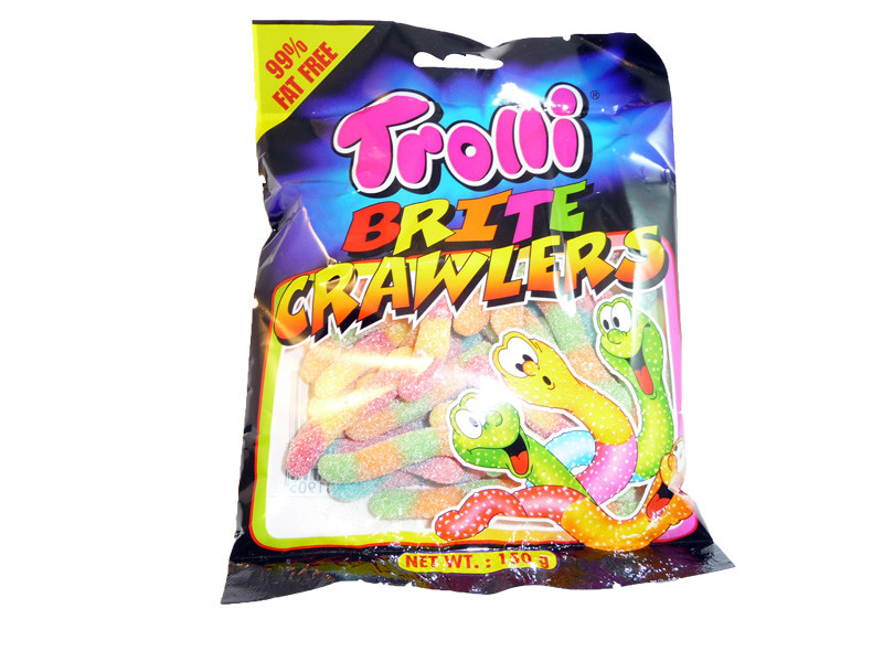Trolli Brite Crawlers, by Trolli,  and more Confectionery at The Professors Online Lolly Shop. (Image Number :3305)