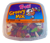 Trolli Groovy Mix Tub, by Trolli,  and more Confectionery at The Professors Online Lolly Shop. (Image Number :3311)