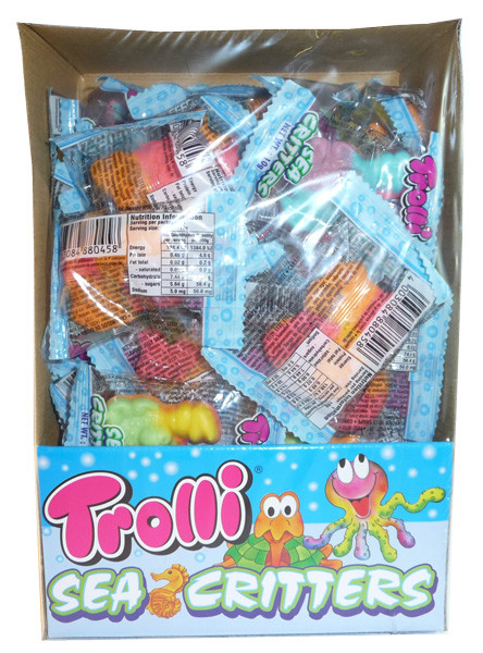 Trolli Sea Critters, by Trolli,  and more Confectionery at The Professors Online Lolly Shop. (Image Number :3401)