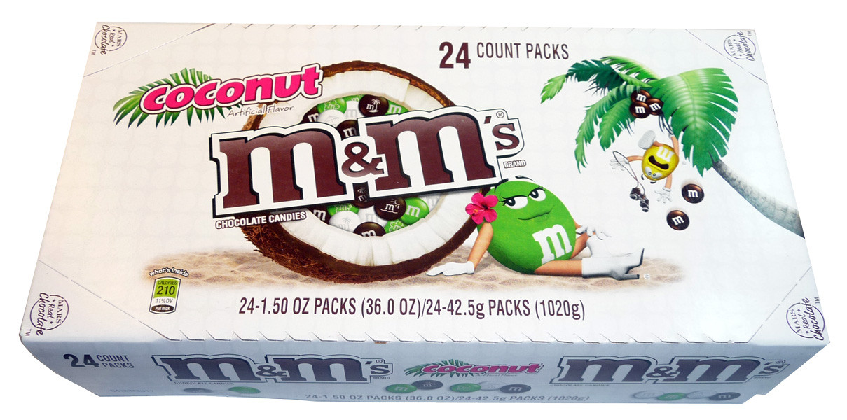 M&M Coconut, by Mars,  and more Confectionery at The Professors Online Lolly Shop. (Image Number :3367)