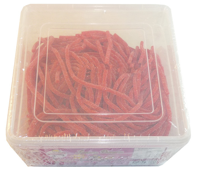Loopy Doopy Sour Strawberry Strings, by AIT Confectionery,  and more Confectionery at The Professors Online Lolly Shop. (Image Number :3366)