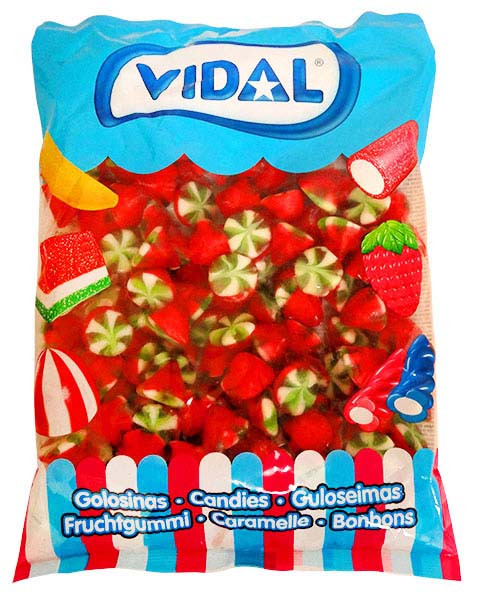 Vidal Strawberry Twist, by Candy Brokers/vidal,  and more Confectionery at The Professors Online Lolly Shop. (Image Number :13305)