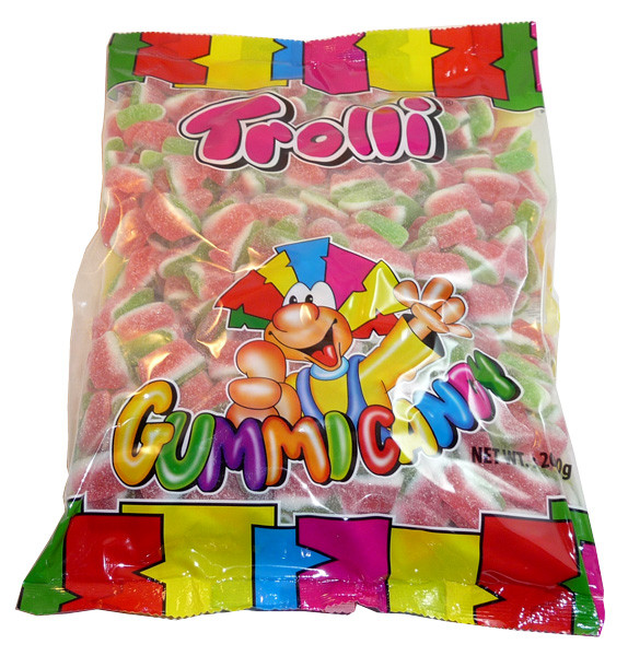 Trolli Watermelon Slices, by Trolli,  and more Confectionery at The Professors Online Lolly Shop. (Image Number :3579)