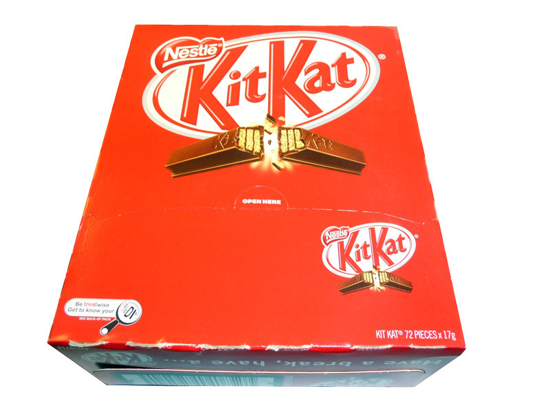 Kit Kat, by Nestle,  and more Confectionery at The Professors Online Lolly Shop. (Image Number :3550)