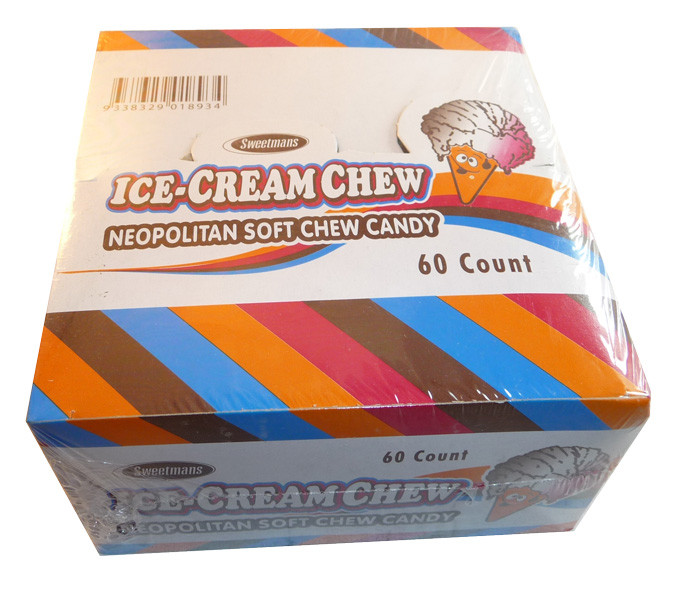 Ice Cream Chews, by Sweetmans,  and more Confectionery at The Professors Online Lolly Shop. (Image Number :3572)