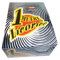 One Metre  Black Licorice, by Fyna Foods,  and more Confectionery at The Professors Online Lolly Shop. (Image Number :3538)