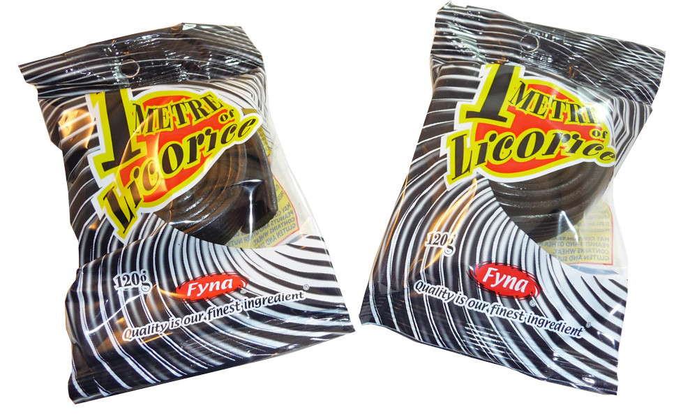 One Metre  Black Licorice, by Fyna Foods,  and more Confectionery at The Professors Online Lolly Shop. (Image Number :3540)