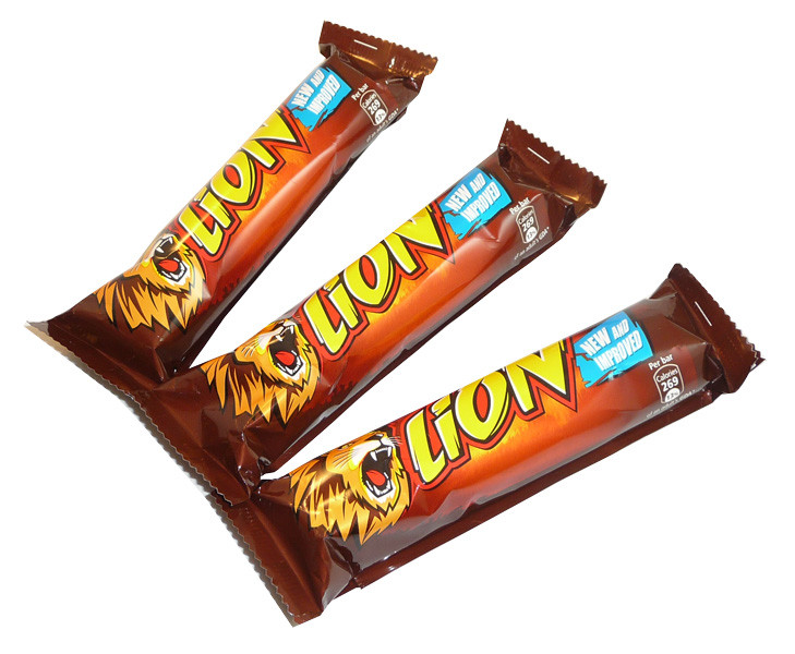 Lion Bars, by Nestle,  and more Confectionery at The Professors Online Lolly Shop. (Image Number :3439)