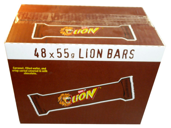 Lion Bars, by Nestle,  and more Confectionery at The Professors Online Lolly Shop. (Image Number :3440)