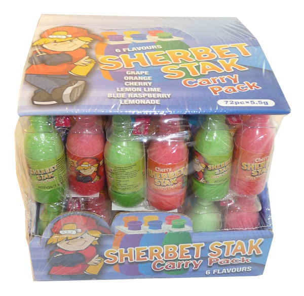 Sherbet Stak Carry Pack, by Universal Candy,  and more Confectionery at The Professors Online Lolly Shop. (Image Number :3449)