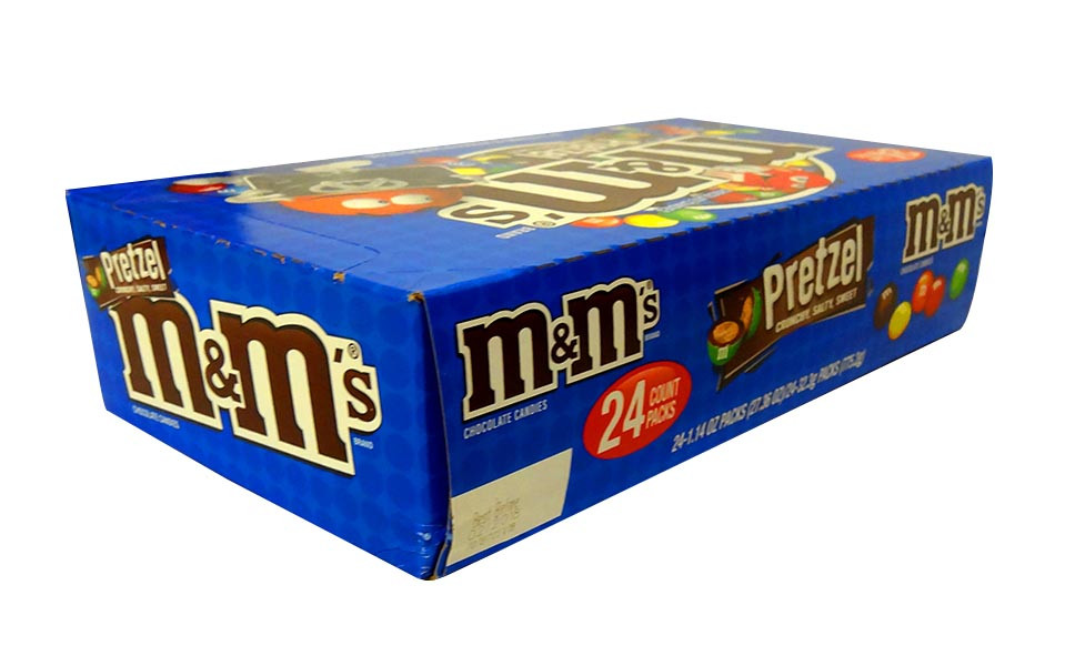 M&M Pretzel, by Mars,  and more Confectionery at The Professors Online Lolly Shop. (Image Number :10561)