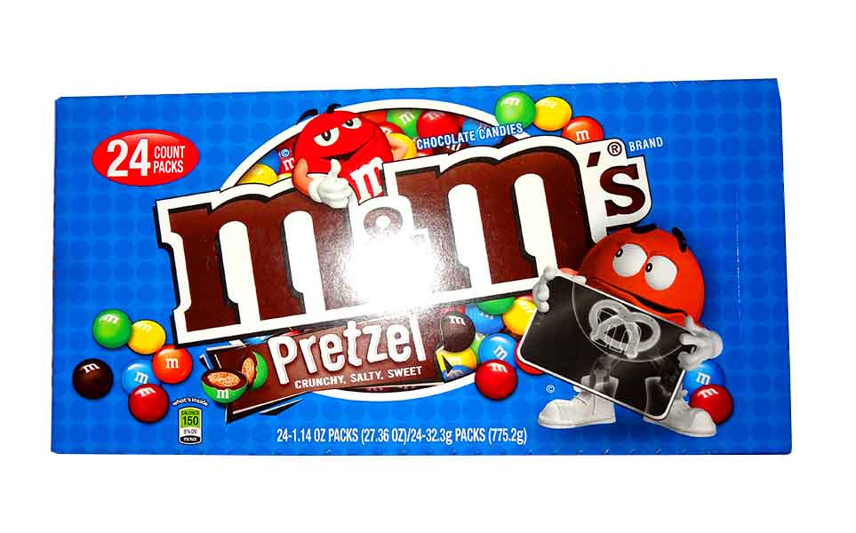 M&M Pretzel, by Mars,  and more Confectionery at The Professors Online Lolly Shop. (Image Number :10562)