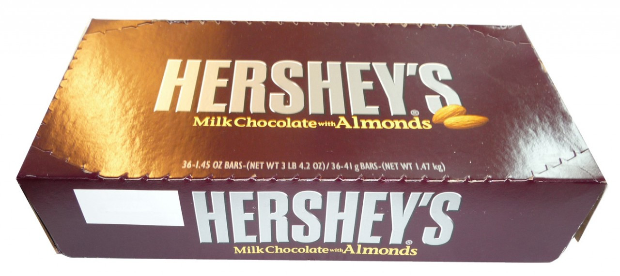 Hershey s Milk Chocolate with Almonds, by Hersheys,  and more Confectionery at The Professors Online Lolly Shop. (Image Number :3542)