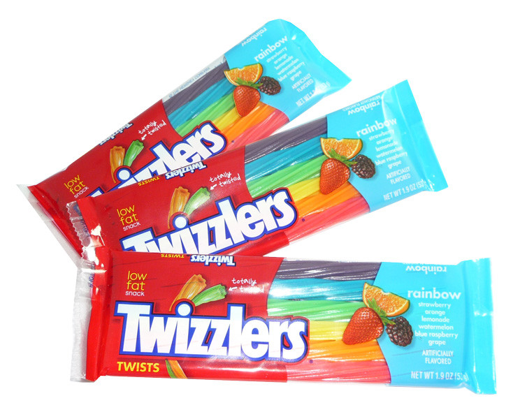 Twizzlers Twists - Rainbow, by Hersheys,  and more Confectionery at The Professors Online Lolly Shop. (Image Number :3582)