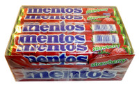 Mentos - Strawberry, by Perfetti Van Melle,  and more Confectionery at The Professors Online Lolly Shop. (Image Number :3452)