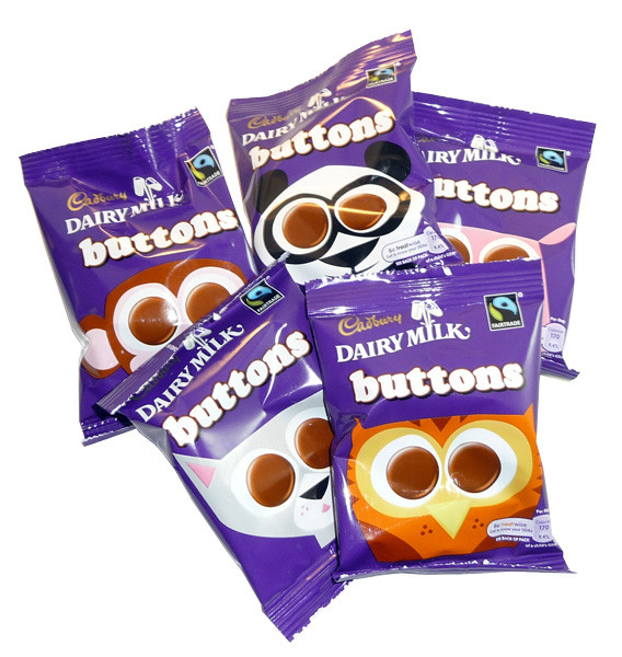 Cadbury Dairy Milk Buttons, by Cadbury,  and more Confectionery at The Professors Online Lolly Shop. (Image Number :3458)